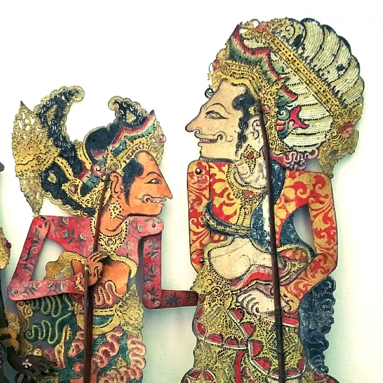 Antique Balinese shadow puppets