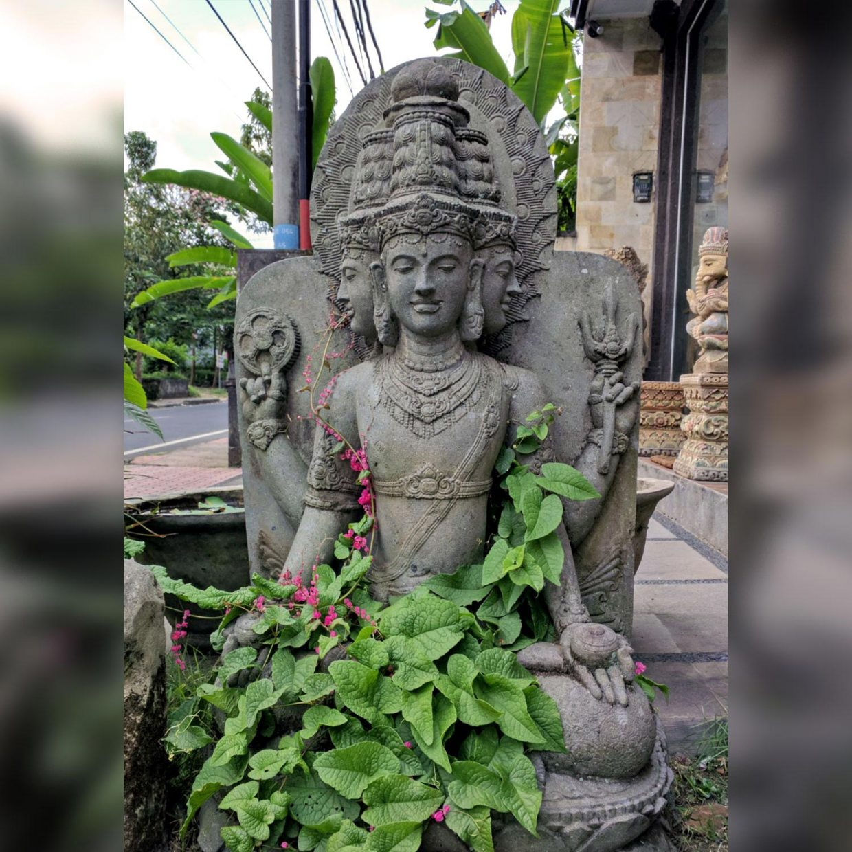 Brahma Stone Carved