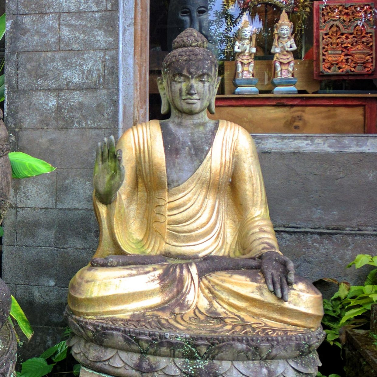Buddha Stone Gold color