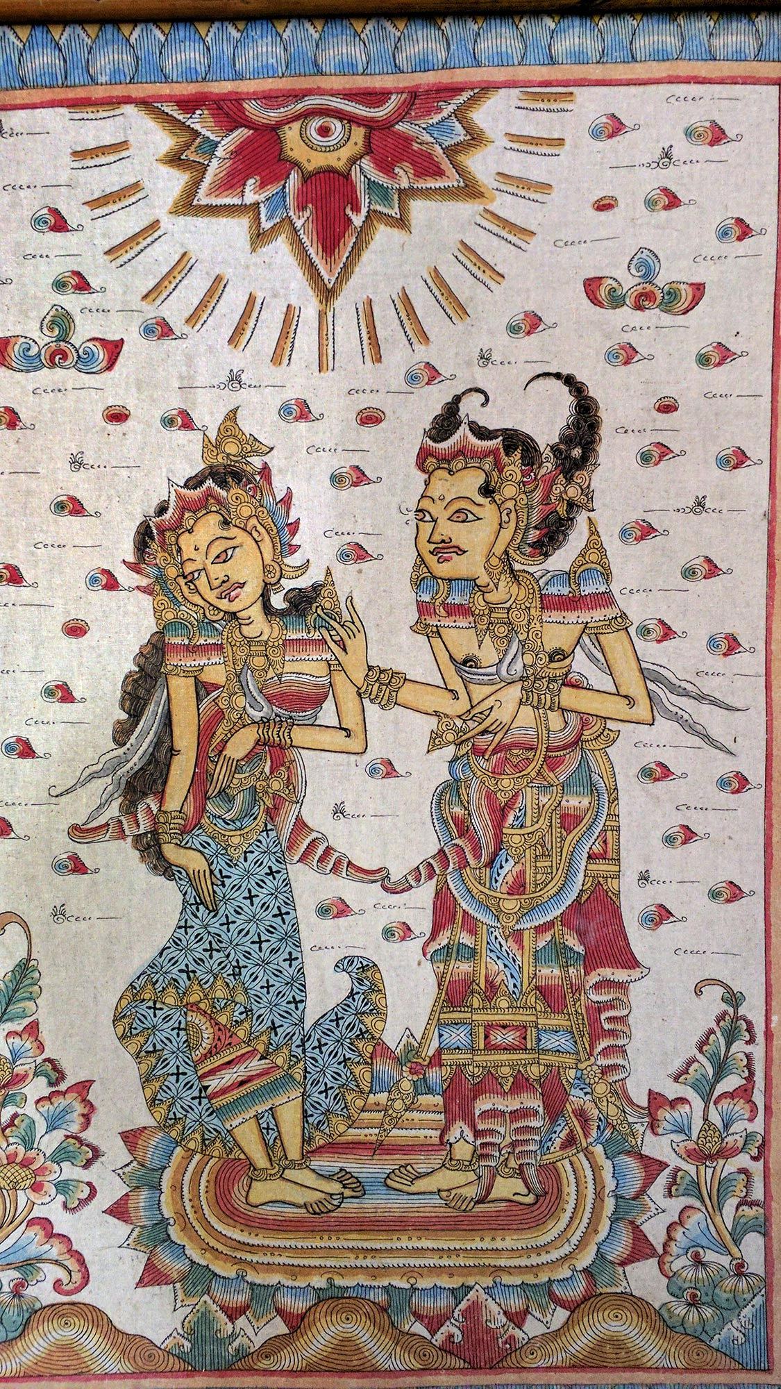 Old Balinese Kamasan Traditional Painting